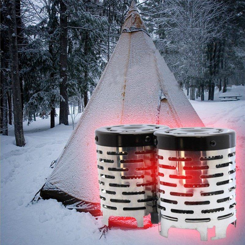 Mini 1pc POELE Camping Chauffe Chauffe R/échaud Portable Tente Chauffage Couverture pour Camping en Plein air Randonn/ée Voyager sans br/ûleur /à gaz